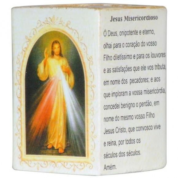 JESUS MISERICORDIOSO P/VELA 7,5CM
