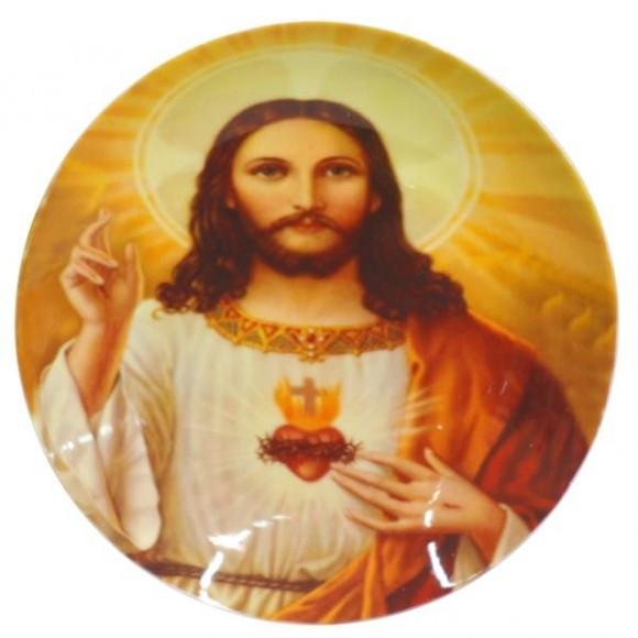SAG.CORACAO JESUS PRATO C/SUPORTE