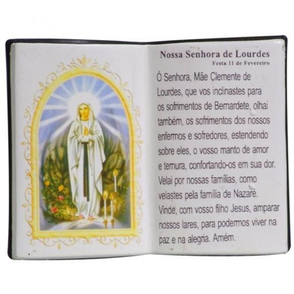 N.SRA DE LOURDES LIVRO P/CANETA 14X11CM