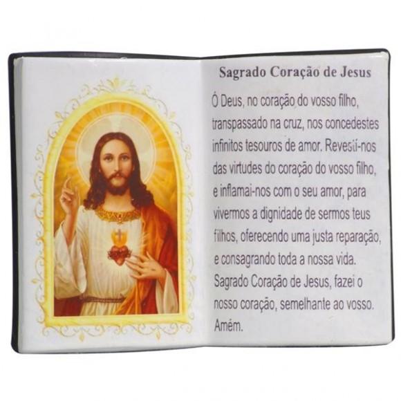 SAG.CORACAO JESUS LIVRO P/CANETA 14X11CM