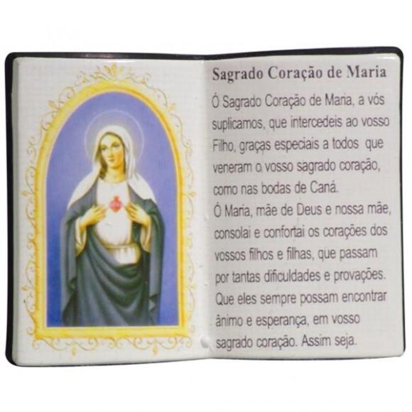 SAG.CORACAO MARIA LIVRO 10X08CM