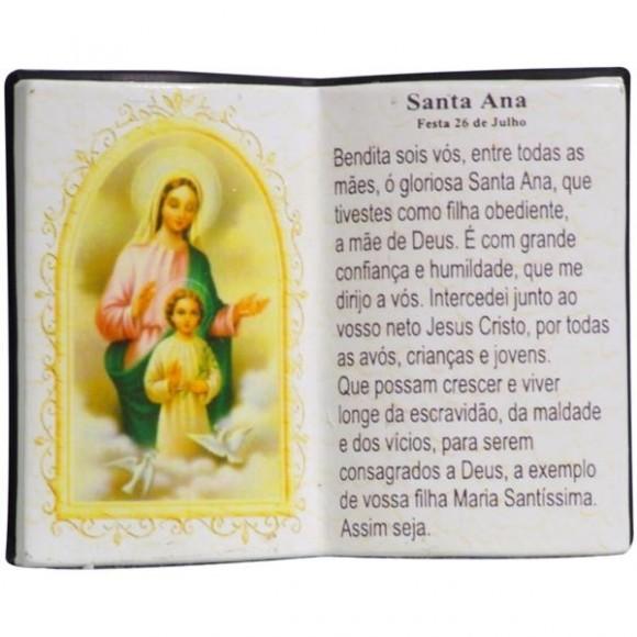 SANTA ANA LIVRO P/CANETA 14X11CM