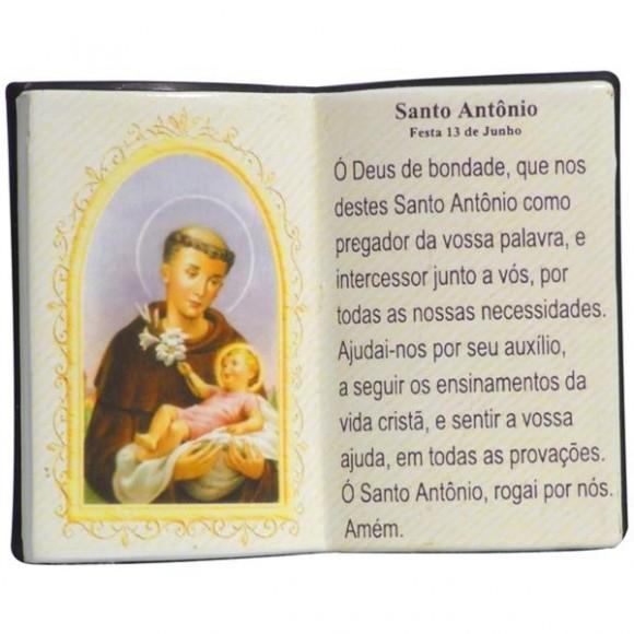 SANTO ANTONIO LIVRO P/CANETA 14X11CM