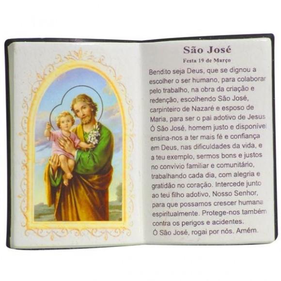 SAO JOSE LIVRO P/CANETA 14X11CM