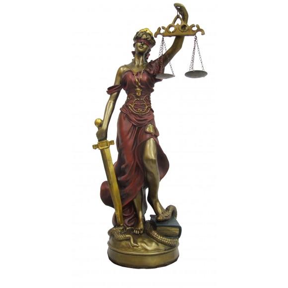 DAMA DA JUSTICA 11CM VM/COBRE