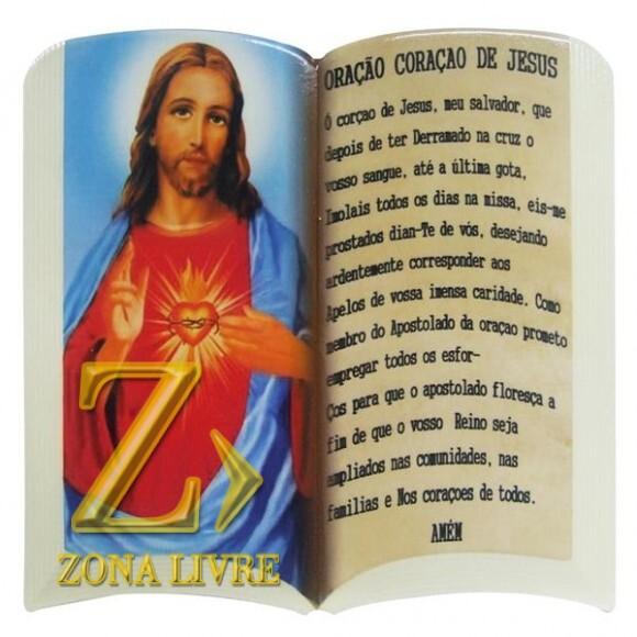 SAG CORACAO JESUS ORACAO 20CM