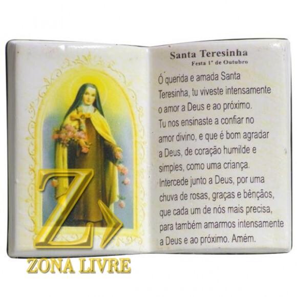 SANTA TEREZINHA LIVRO P/CANETA 14X11CM